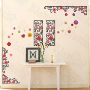 [Amazing Floral Art] Decorative Wall Stickers Appliques Decals Wall Decor Home Decor