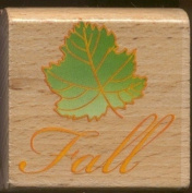 FALL MAPLE LEAF Design Autumn 5.1cm Wood Mounted Rubber Stamp For Scrapbooking Crafts