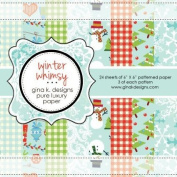 Gina K. Designs 6 X 6 Patterned Paper Pack- Winter Whimsy