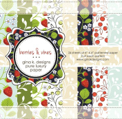 Gina K. Designs 6 X 6 Patterned Paper Pack- Berries and Vines