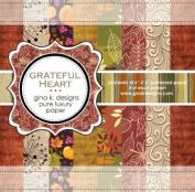 Gina K. Designs 6 X 6 Patterned Paper Pack- Grateful Heart