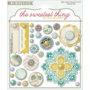 The Sweetest Thing Bluebell Decorative Brads-Every Day