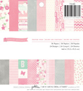 Pebbles 36-Sheet Special Delivery Girl Paper Pad, 15cm by 15cm