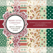 Gina K. Designs 6 X 6 Patterned Paper Pack- Merry Little Christmas