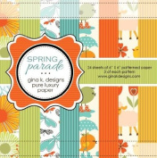 Gina K. Designs 6 X 6 Patterned Paper Pack- Spring Parade