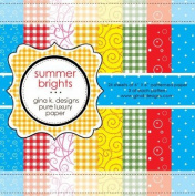 Gina K. Designs 6 X 6 Patterned Paper Pack- Summer Brights