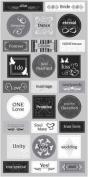 Wedding ABC Chipboard Scrapbook Stickers