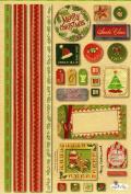 Merry Christmas Cardstock Scrapbook Stickers