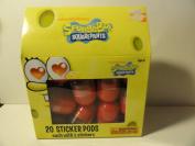 Spongbob Squarepants Sticker Pods - 20 Pods, Each with 5 Stickers