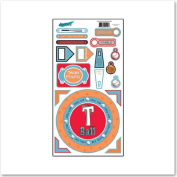 T-Ball Cardstock Scrapbook Stickers