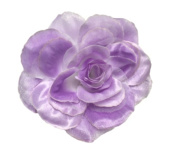 Cuteque International CQA106-LAVENDER 3-Piece Packed Satin Organza Rose Embellishment, 10cm , Lavender