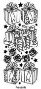 Presents Silver Class A'Peels Scrapbook Stickers
