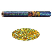 Holographic Mylar Roll- Gold Dots 40cm x 100cm Roll