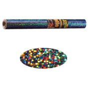 Holographic Mylar- Silver Dots 40cm x 100cm Roll