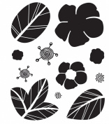 Indian Summer Clear Bitsy Stamp-Flora