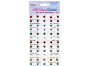 Forever In Time Birthstone Gem Accents, 60 Per Package, Self-Adhesive, 0.5cm