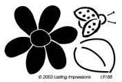 Embossing Brass Templates - Flower & Ladybug