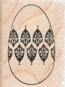 Filigree Egg Wood Mounted Rubber Stamp