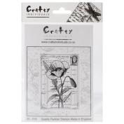 Crafty Individuals Unmounted Rubber Stamp 12cm x 18cm Pkg-Pretty Poppy