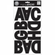 Large Alphabet Stickers 10 Sheets 18cm x 30cm -Euro Mode Black