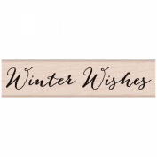Hero Arts Mounted Rubber Stamps 2.5cm x 10cm -Winter Wishes