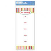 The Paper Company, 2009175, Pby Bright Stripe It.s a Party 10 Invit