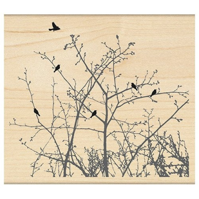 Penny Black 4271L Winter Ledge Wood Mounted Rubber Stamp
