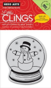 Hero Arts - Clings - Christmas - Repositionable Rubber Stamps - Snow Globe