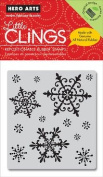 Hero Arts - Clings - Christmas - Repositionable Rubber Stamps - Snowflakes