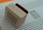 Mini Guitar Chord Stamp (5 Frets) Rubber Stamp