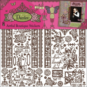 Hot Off The Press Dazzles Stickers 15cm x 23cm 3 Sheets-Artful Boutique Brown