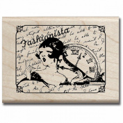 Mounted Rubber Stamp 6.4cm x 6.4cm -Fashionista