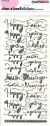 Spring Wishes Silver Class A'Peels Scrapbook Stickers