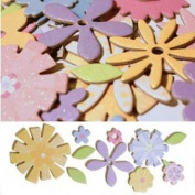 Floral Assortment Shimmer Shapes Glitter Chipboard Diecuts