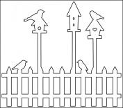 30cm x 30cm Birdhouses Template