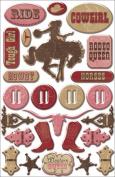 Cowgirl Epoxy Stickers