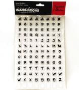 Alphabet Squares Epoxy Scrapbook Stickers
