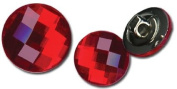 Timeless Buttons 12mm & 15mm 12/Pkg-Candy Apple