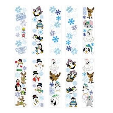 100 Winter Sticker Sheets ~ 8 to 14 Stickers Per Sheets ~ Sticker Size: 1.3cm - 3.5cm X 1.3cm - 4.4cm ~ New ~ Christmas Stocking Stuffer