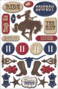 Cowboy Epoxy Stickers: