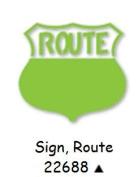 Ellison Design Easy Emboss Sign, Route #22688
