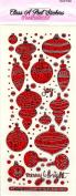 Retro Baubles Red Sparkle Class A'Peels Scrapbook Stickers