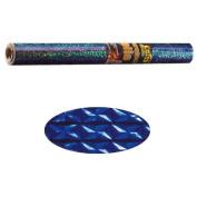 Holographic Mylar- Diamond Blue 40cm x 100cm Roll