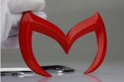 12*8cm Red Colour 3D Metal Batman Car Sticker Decal Mazda 3 5 6