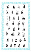 Alphabet - Snow Flakes // Clear stamps pack (10cm x 18cm ) FLONZ