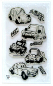 Toy cars // Clear stamps pack (10cm x 18cm ) FLONZ