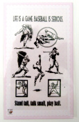 Baseball // Clear stamps pack (10cm x 18cm ) FLONZ