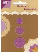 Ecstasy Crafts Joy! Craft Dies - Button Set 1