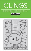 Hero Arts CLINGS Rubber Stamp / Hello