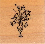 Little Vase Wood Mounted Rubber Stamp